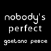 Nobody|s Perfect